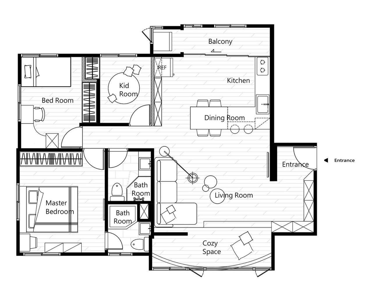 Bản thiết kế căn hộ
