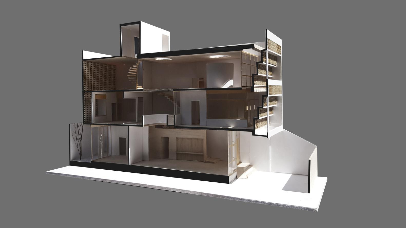 Tổng quan thiết kế 3 tầng của ngôi nhà