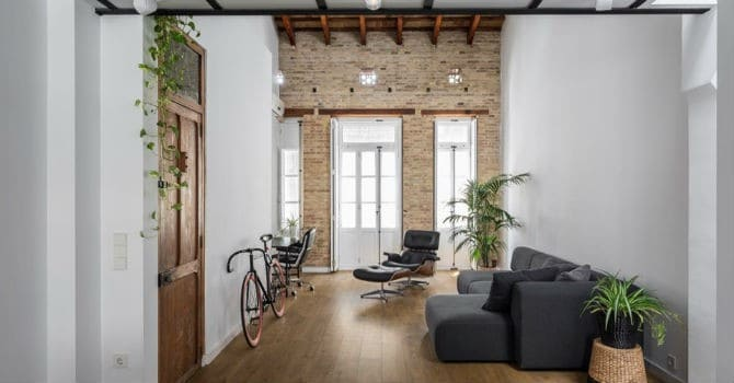"""Căn nhà """"không tường"""" có diện tích 73m2 tại phố Valencia, Tây Ban Nha"""