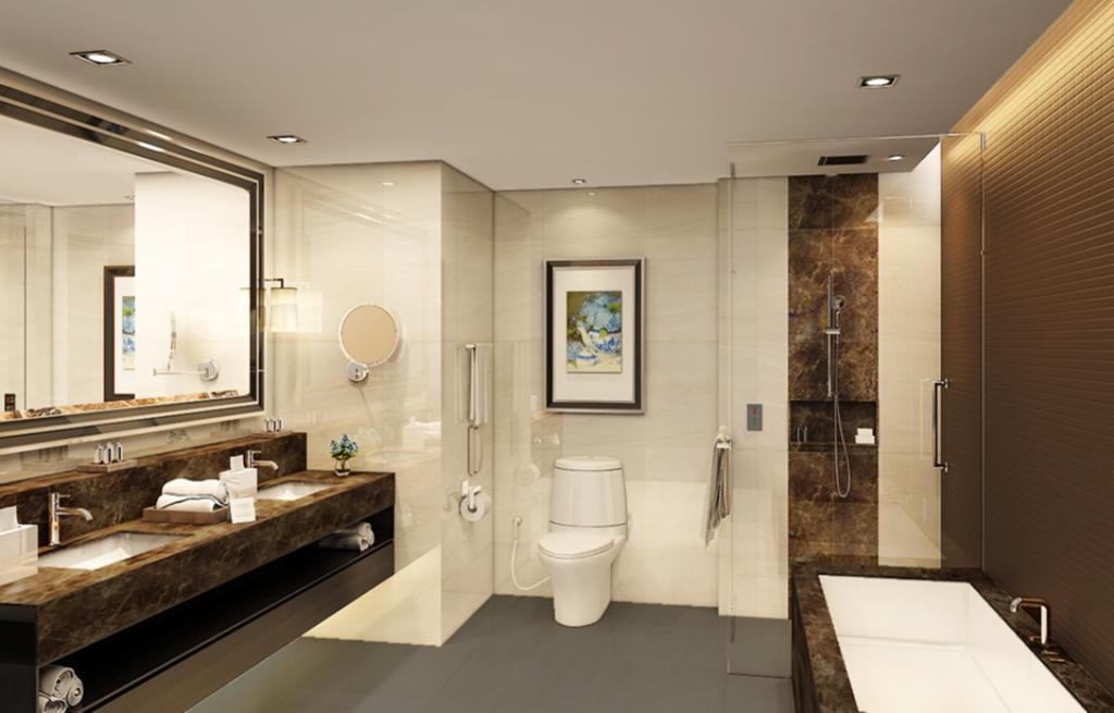 Phòng tắm hiện đại.