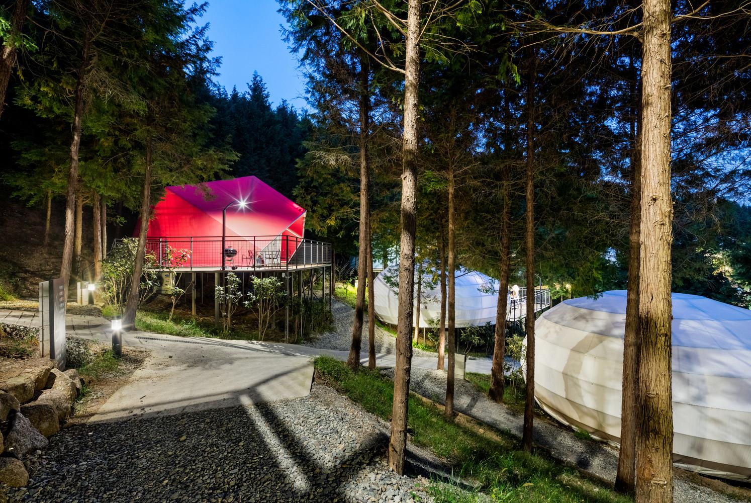Nằm giữa rừng bách, khu nghỉ dưỡng tạo cảm giác trong lành, gần gũi với thiên nhiên