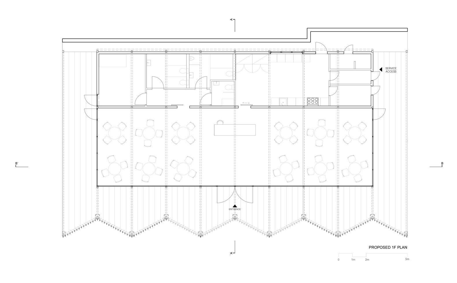 Thiết kế của nhà hàng trung tâm
