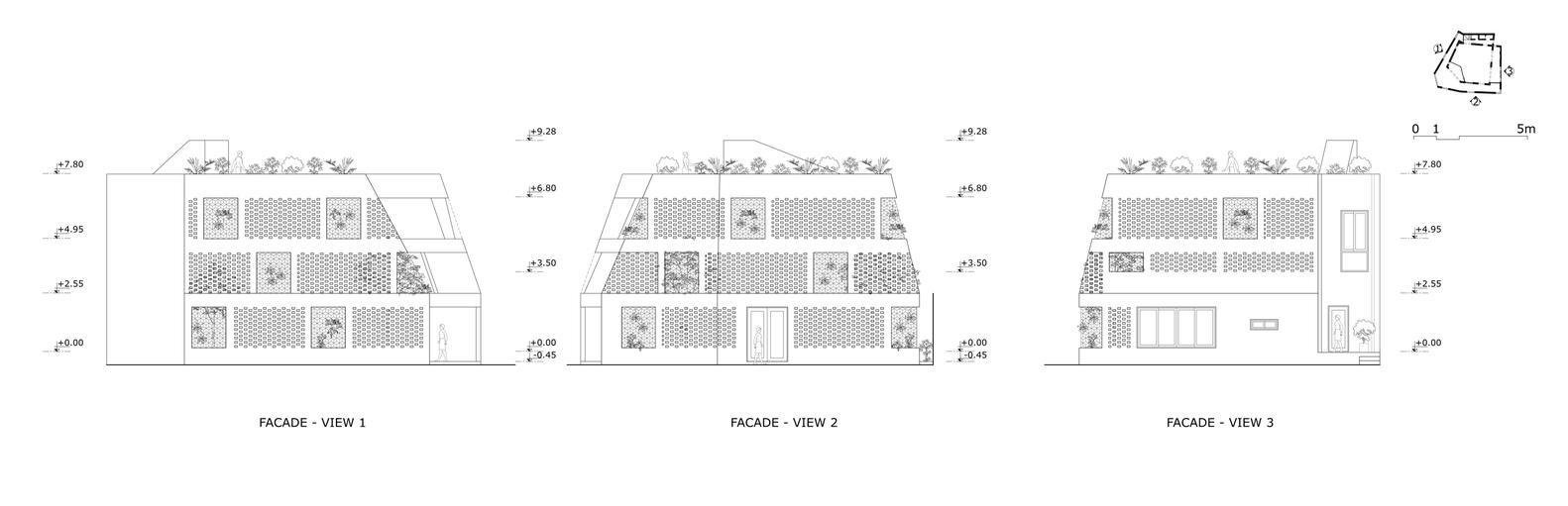 Bản vẽ mô phỏng ngôi nhà.