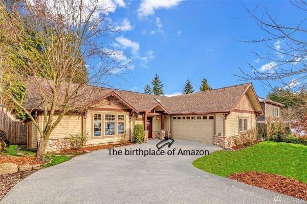 Phần gara của ngôi nhà là nơi ông chủ Amazon đã bắt đầu sự nghiệp của mình.