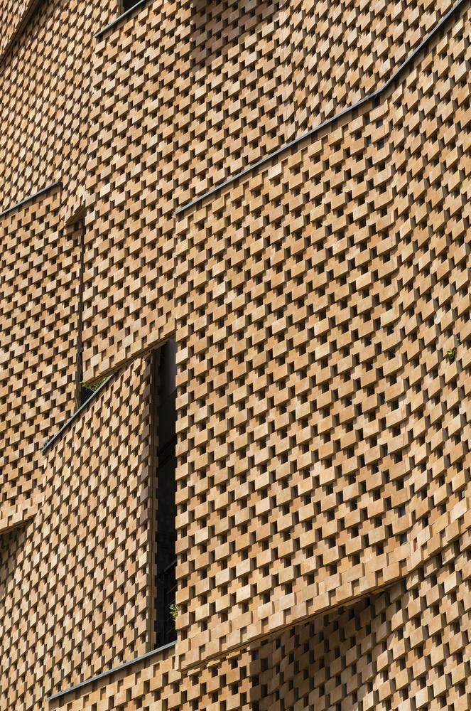 Bức tường tạo hiệu ứng đặc biệt về mặt thẩm mỹ.