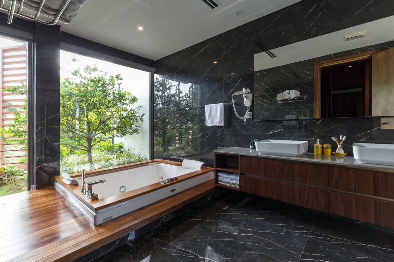 Phòng tắm mang đến cảm giác thư giãn tuyệt đối cho người sử dụng.
