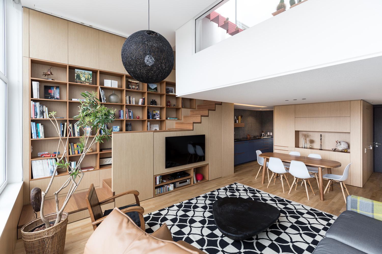 Toàn cảnh không gian sinh hoạt của căn hộ