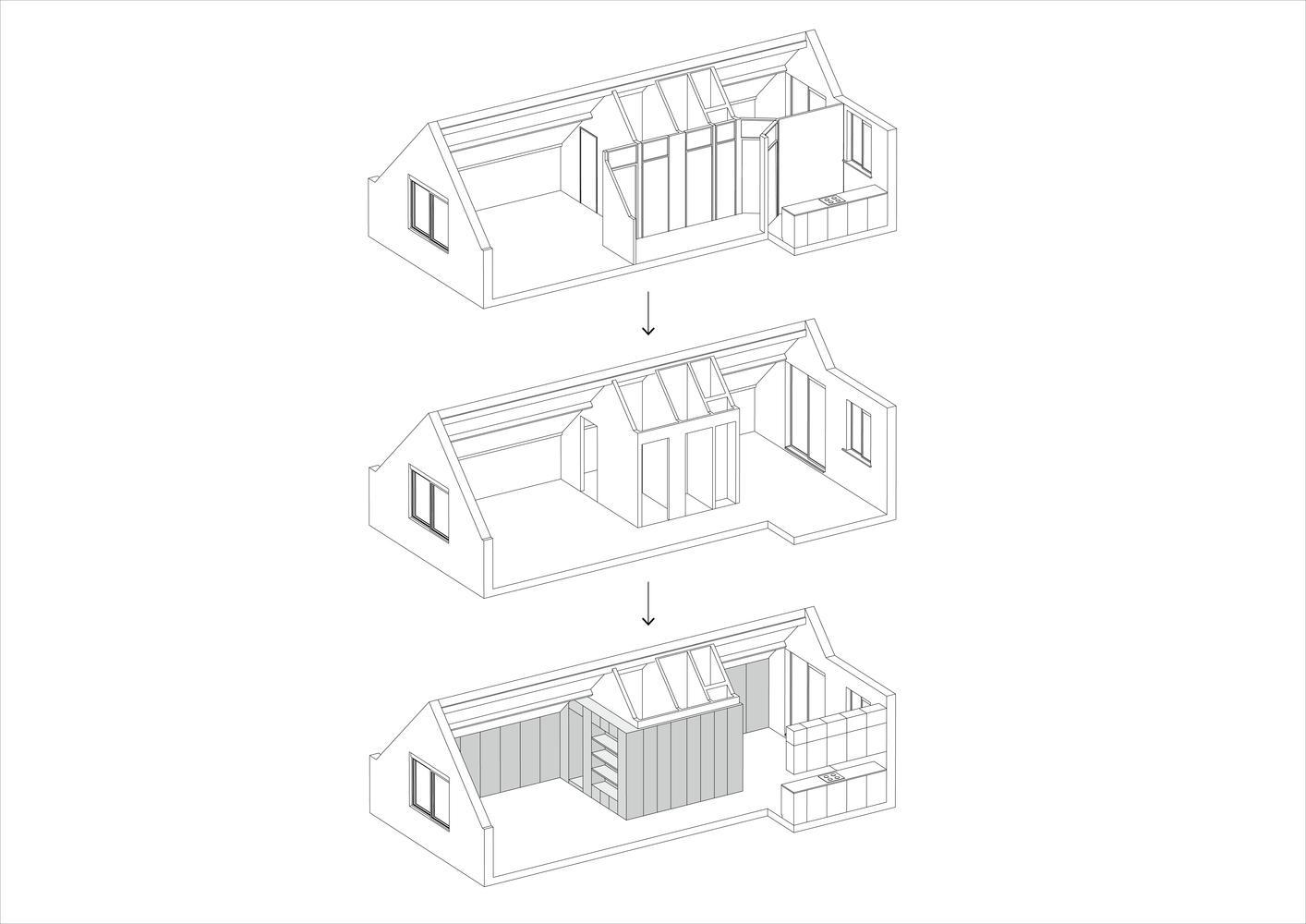 Bản thiết kế cải tạo căn hộ