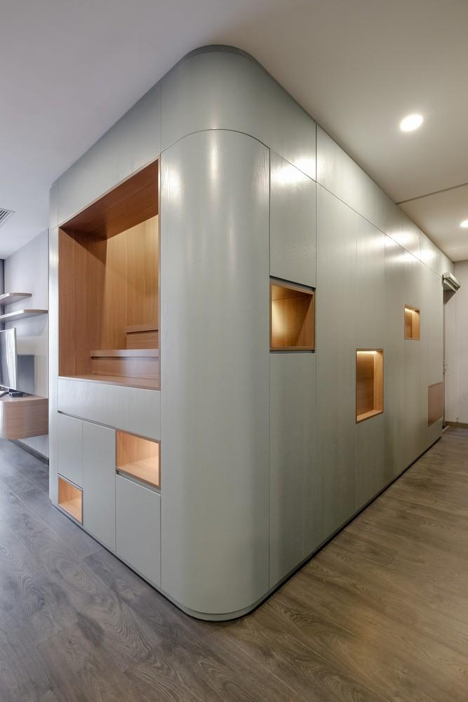 thiet ke hien dai phong khoang cua can ho duoc bao phu boi mau la huong thao 2 - Thiết kế hiện đại, phóng khoáng của căn hộ được bao phủ bởi màu lá hương thảo