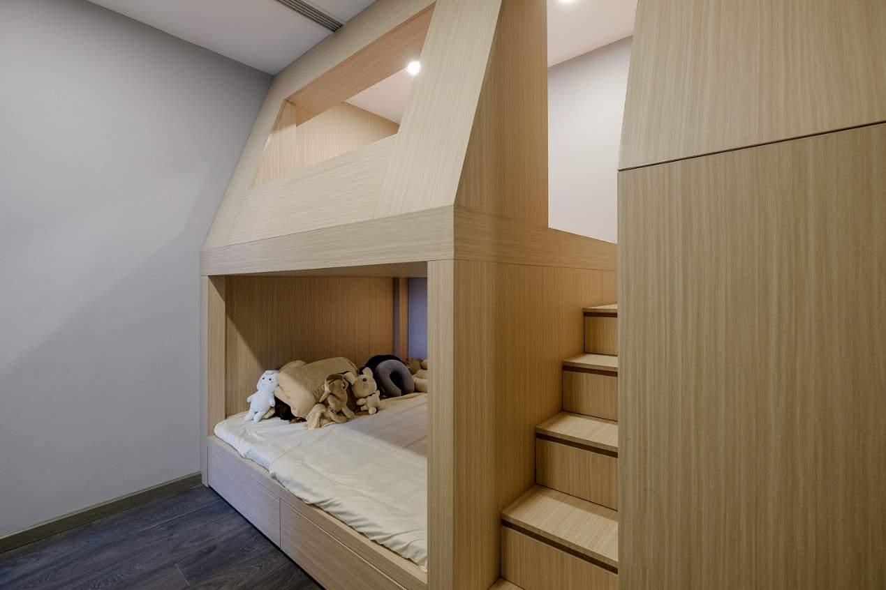 Giường tầng được sử dụng để tiết kiệm diện tích