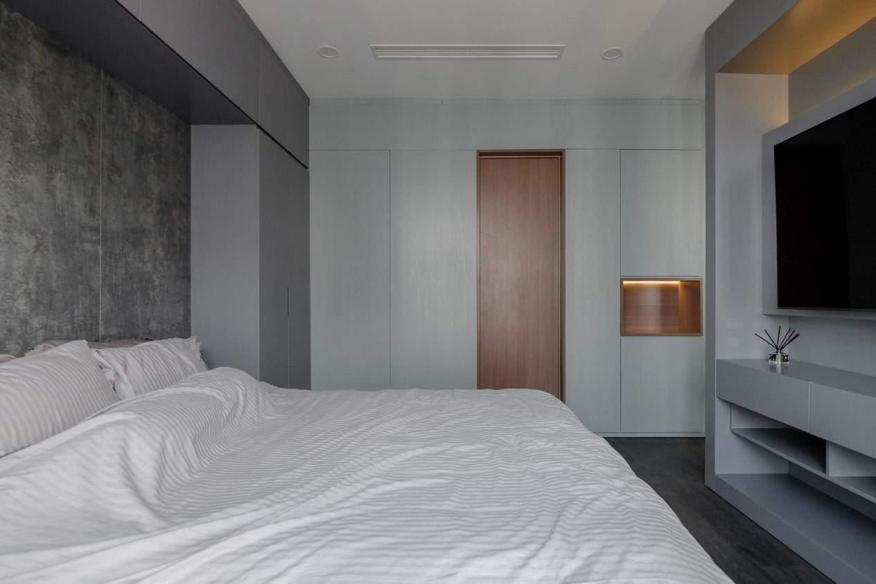 thiet ke hien dai phong khoang cua can ho duoc bao phu boi mau la huong thao 8 - Thiết kế hiện đại, phóng khoáng của căn hộ được bao phủ bởi màu lá hương thảo