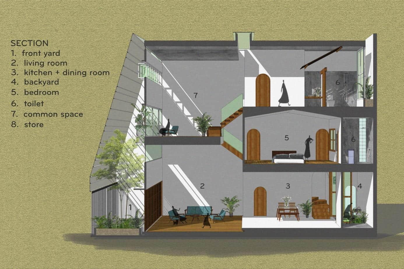 """thiet ke xanh don gian ma an tuong cua ngoi nha tai nha trang 10 - Thiết kế """"xanh"""" đơn giản mà ấn tượng của ngôi nhà tại Nha Trang"""