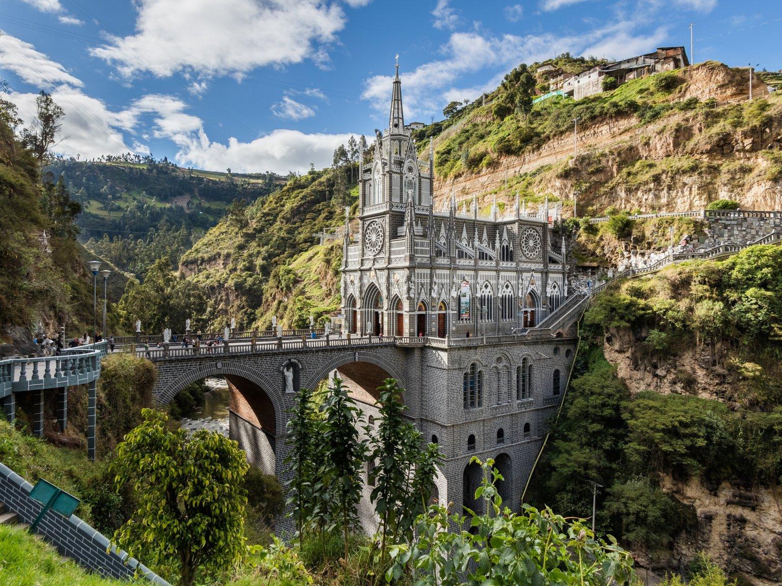 5. Khu bảo tồn Las Lajas ở Narino, Colombia