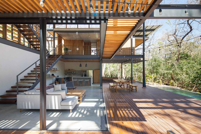an tuong ngoi nha duoc thiet ke hoan toan bang go kinh va khung sat tai nosara costa rica 5 - Ấn tượng ngôi nhà được thiết kế hoàn toàn bằng gỗ, kính và khung sắt tại Nosara Costa Rica