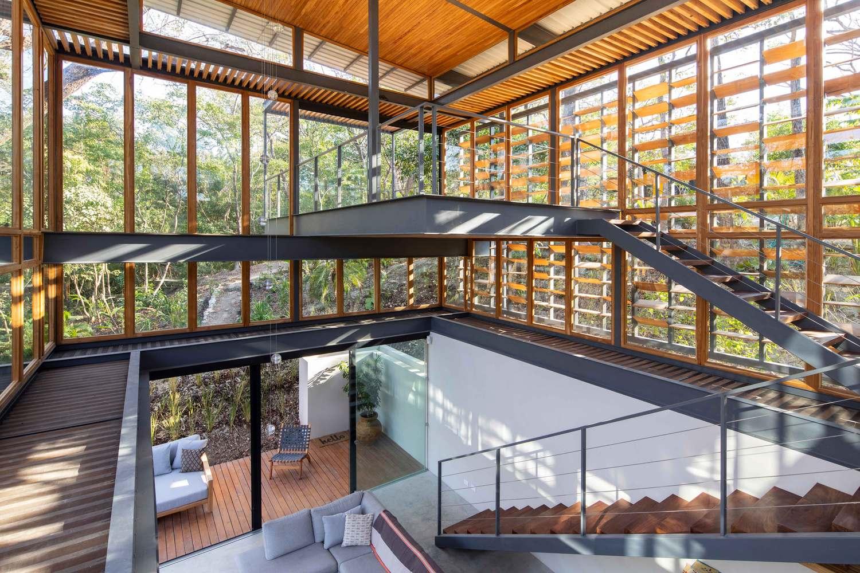 an tuong ngoi nha duoc thiet ke hoan toan bang go kinh va khung sat tai nosara costa rica 9 - Ấn tượng ngôi nhà được thiết kế hoàn toàn bằng gỗ, kính và khung sắt tại Nosara Costa Rica