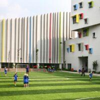Ấn tượng với ngôi trường mẫu giáo có lối kiến trúc và màu sắc độc đáo, bắt mắt