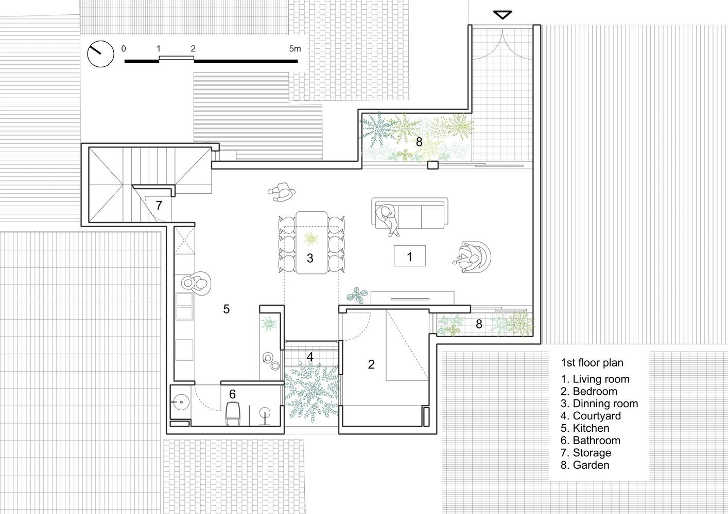 Thiết kế tầng 1.