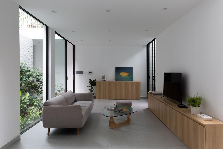 Không gian phòng khách được trang trí hiện đại