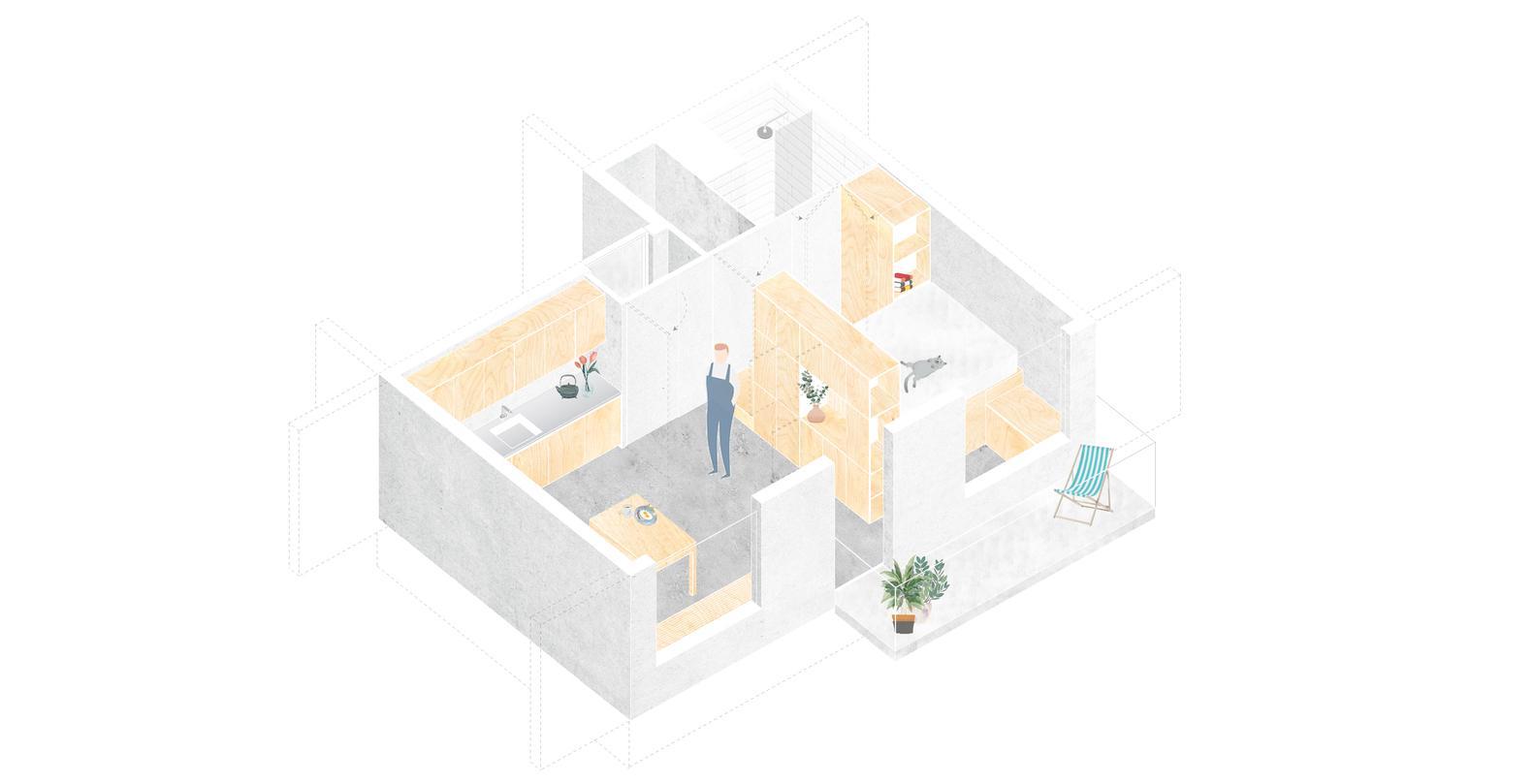 Bản vẽ thiết kế của công trình 30m2