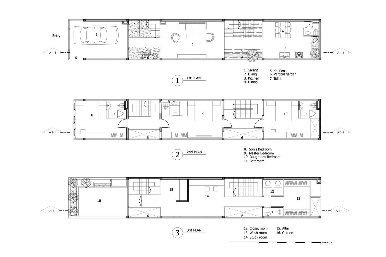 Bản thiết kế chi tiết ngôi nhà với đầy đủ các phòng đảm bảo sinh hoạt cho cả gia đình