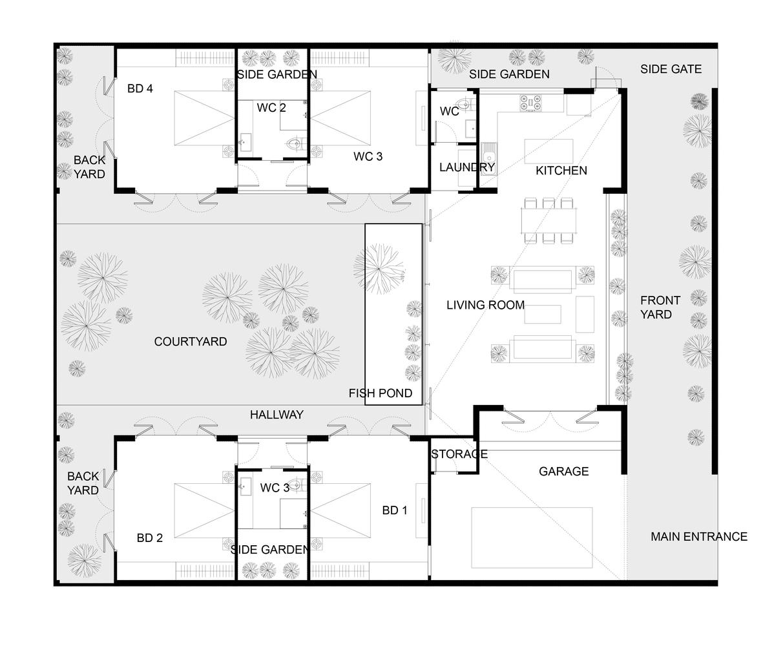 Bản vẽ thiết kế các không gian trong nhà