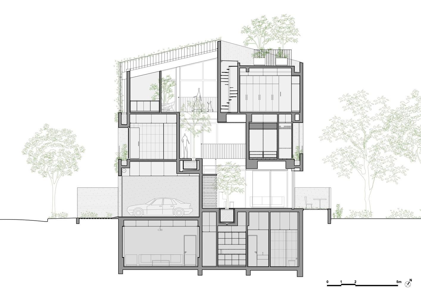Bản vẽ chi tiết ngôi nhà và các tầng