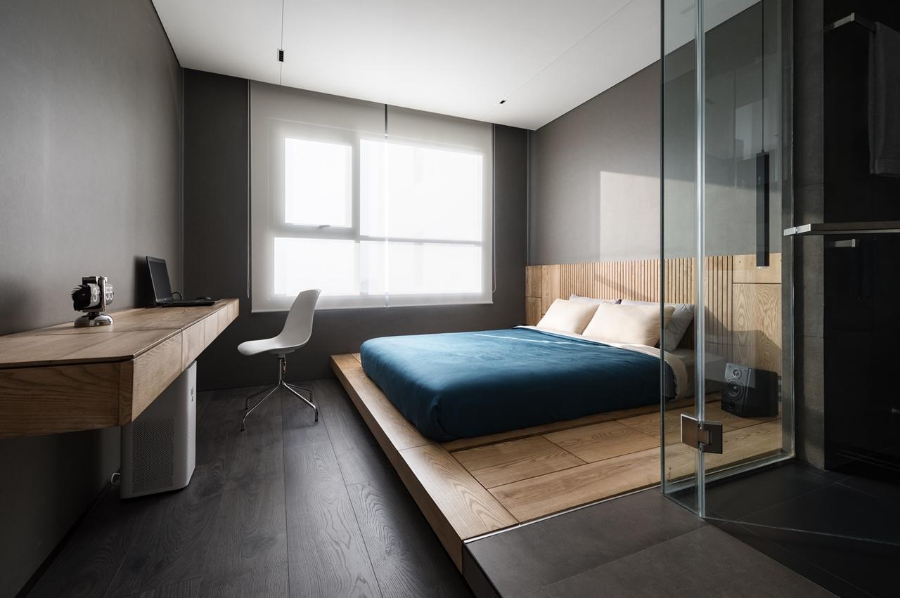 Phòng ngủ với thiết kế tinh tế, hiện đại.